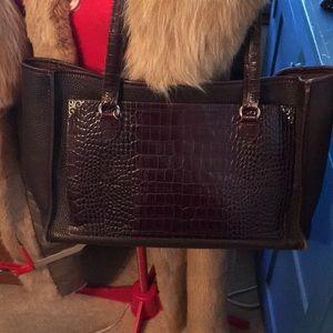 Brighton brown pure leather shopper tote